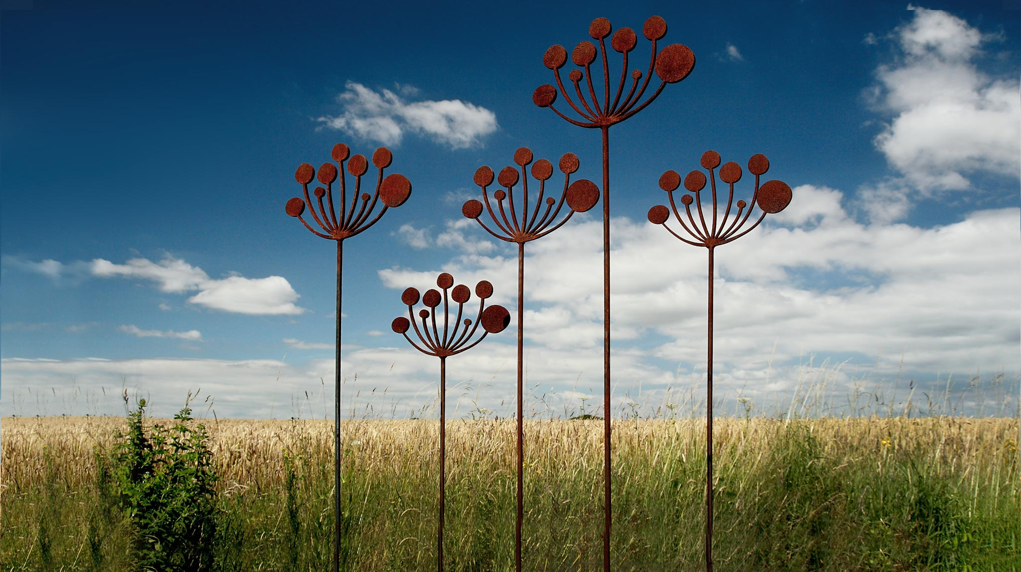 Cow Parsley Garden Sculpture, Simon Hempsell