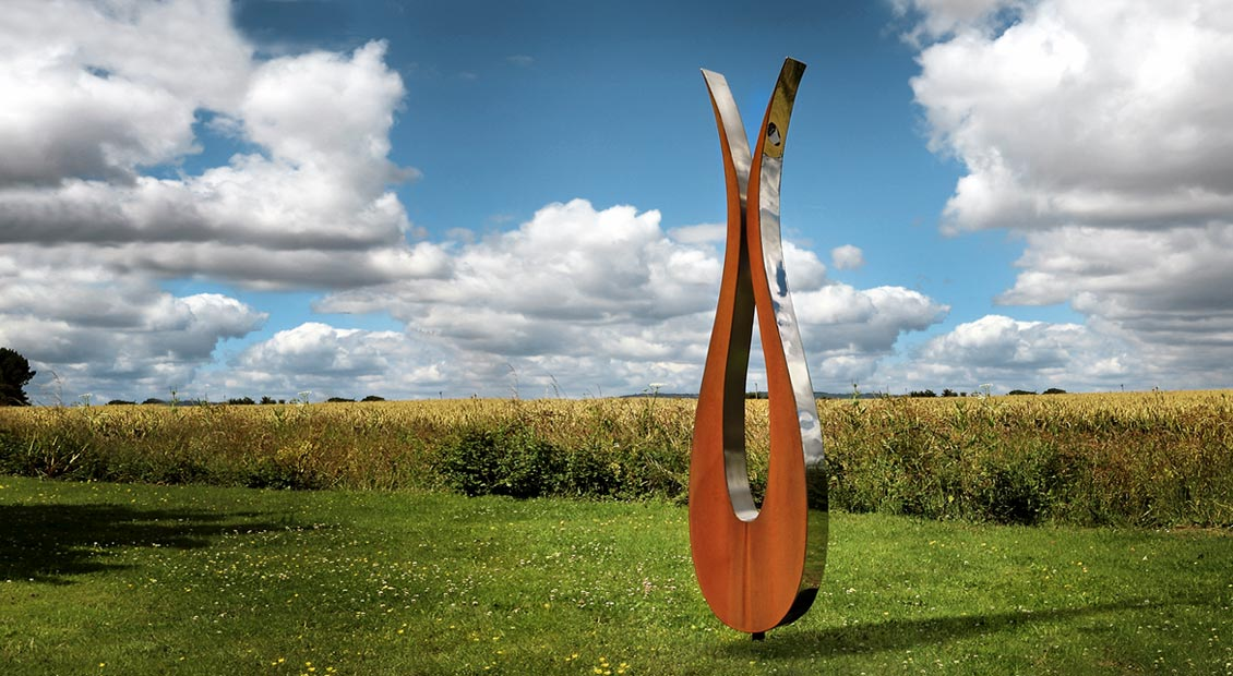 Contemporary garden sculpture by simon hempsell